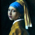 Miniature copy of Girl with a Pearl Earring by Vermeer